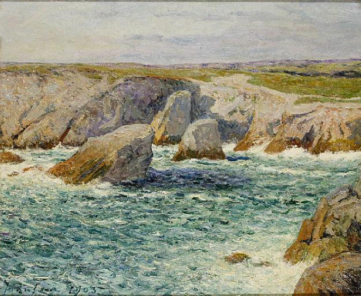 Order Reproductions | The creek shore of Quibero, 1903 by Maxime Emile Louis Maufra (1861-1918) | WahooArt.com