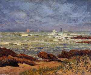 Maxime Emile Louis Maufra - The Barges Lighthouse