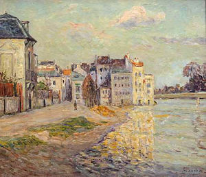 Maxime Emile Louis Maufra - The Embankment of Lagny under Flood Water