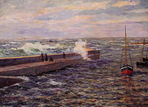 Maxime Emile Louis Maufra - The Jetty at Pontivy
