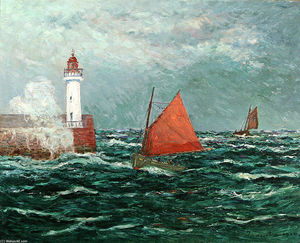 Maxime Emile Louis Maufra - Back to Fishing boats in Belle-Isle-en-Mer