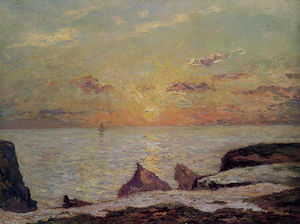 Maxime Emile Louis Maufra - On the Cliffs of Belle Isle on Mer