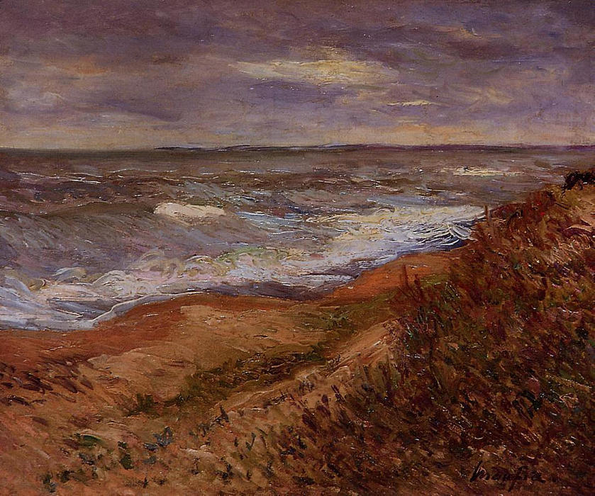 By the Sea by Maxime Emile Louis Maufra (1861-1918) | Paintings Reproductions Maxime Emile Louis Maufra | WahooArt.com