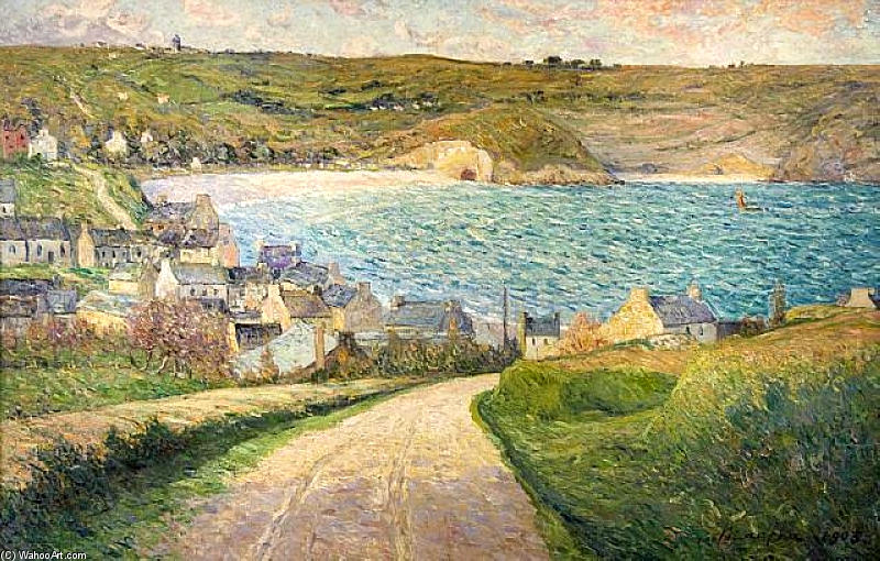 Order Reproductions | The Beach at Morgat by Maxime Emile Louis Maufra (1861-1918) | WahooArt.com
