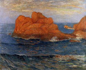 Maxime Emile Louis Maufra - The Red Rocks at Belle Ile