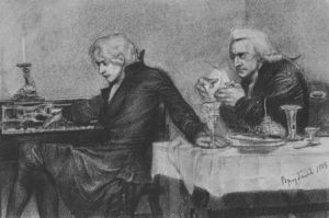 Mikhail Vrubel - Salieri pours poison into a Mozart's glass
