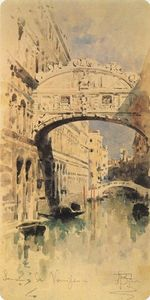 Mikhail Vrubel - Venice. Bridge of Sighs