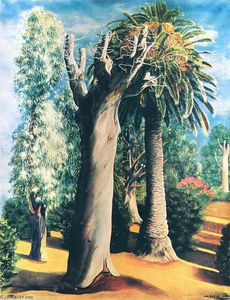 Moise Kisling - Eucalyptus and palm