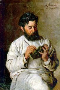 Mykola Yaroshenko - Portrait of the sculptor L.V. Posen
