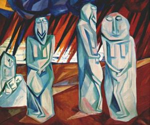Natalia Goncharova - Pillars of salt