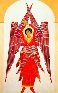 Natalia Goncharova - Liturgy six winged Seraph