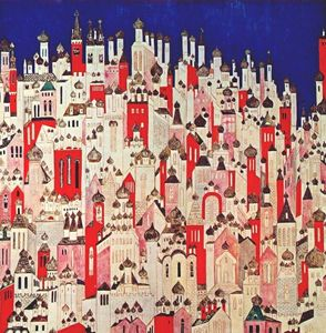 Natalia Sergeevna Goncharova - Design for final backcloth