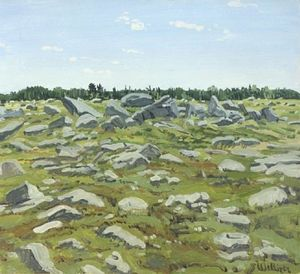Neil Gavin Welliver - Study for Midday Barren