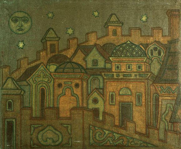 Towns, 1914 by Nicholas Roerich (1874-1947, Russia) | Reproductions Nicholas Roerich | WahooArt.com