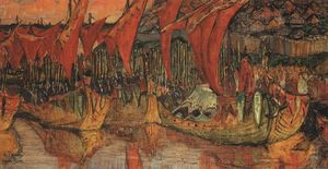 Nicholas Roerich - Vladimir campaign to Korsun (Red Sails)