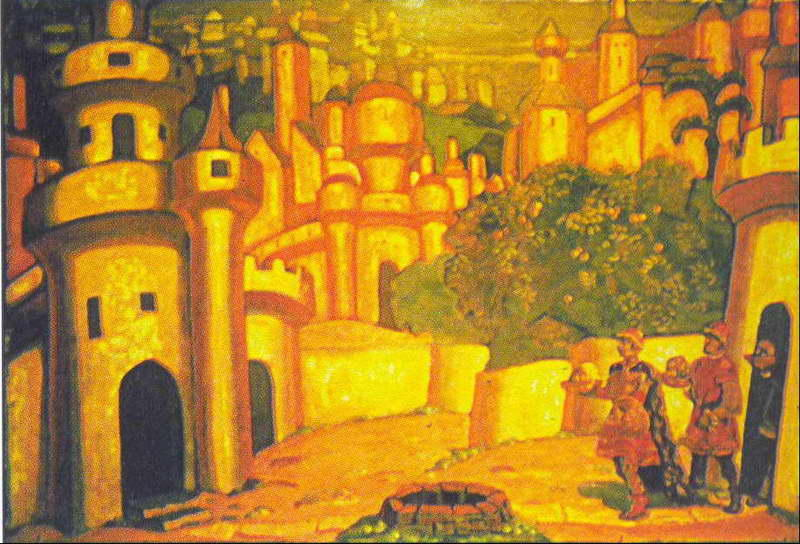 Gifts, 1909 by Nicholas Roerich (1874-1947, Russia) | Famous Paintings Reproductions | WahooArt.com