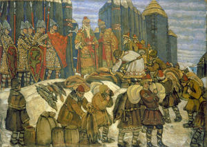 Nicholas Roerich - Russian prince collects tribute