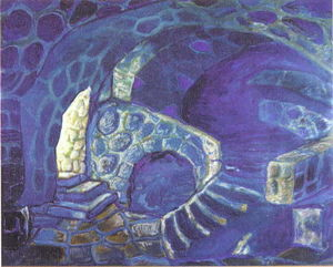 Nicholas Roerich - Corridors of the castle. Dungeons