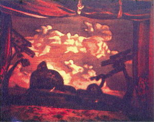 Nicholas Roerich - Study of scene design for ''Night on Bald Mountain''