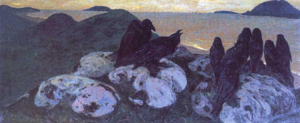 Ominous, 1901 by Nicholas Roerich (1874-1947, Russia) | Paintings Reproductions Nicholas Roerich | WahooArt.com