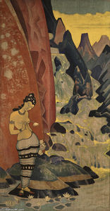 Nicholas Roerich - Song of waterfall
