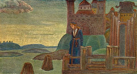 Song of the Viking, 1907 by Nicholas Roerich (1874-1947, Russia) | Oil Painting | WahooArt.com