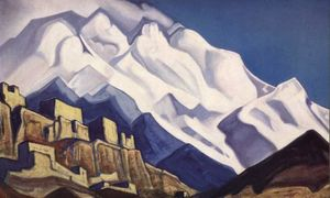 Nicholas Roerich - Tibet. Monastery in the mountains. (Rakaposhi)