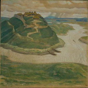 Nicholas Roerich - Ancient city