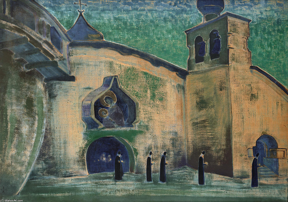And we bring the light, 1922 by Nicholas Roerich (1874-1947, Russia) | Paintings Reproductions Nicholas Roerich | WahooArt.com