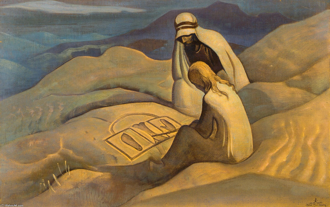 Signs of Christ, 1924 by Nicholas Roerich (1874-1947, Russia) | Museum Art Reproductions Nicholas Roerich | WahooArt.com