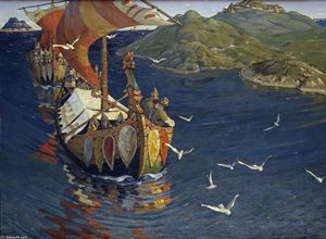 Nicholas Roerich - Visitors from over the sea