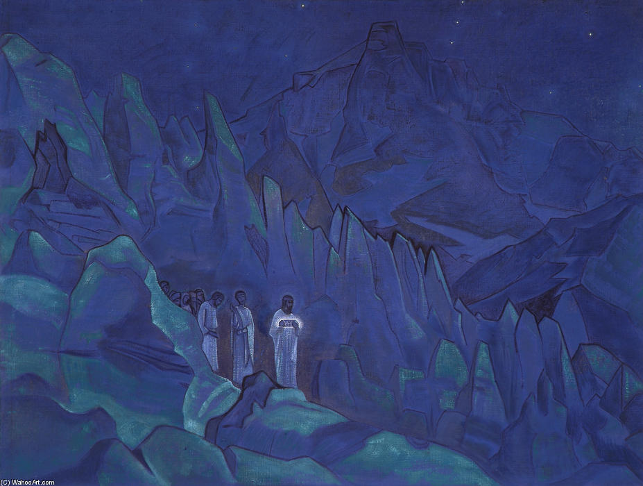 Burning the Darkness, 1924 by Nicholas Roerich (1874-1947, Russia) | Reproductions Nicholas Roerich | WahooArt.com