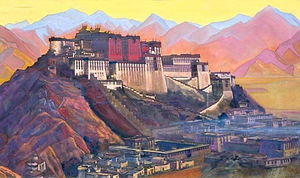 Nicholas Roerich - Tibet stronghold (Potala)