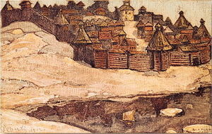 Nicholas Roerich - Old town