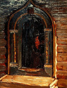 Nicholas Roerich - Rostov Veliky. Door of the church on Ishna.