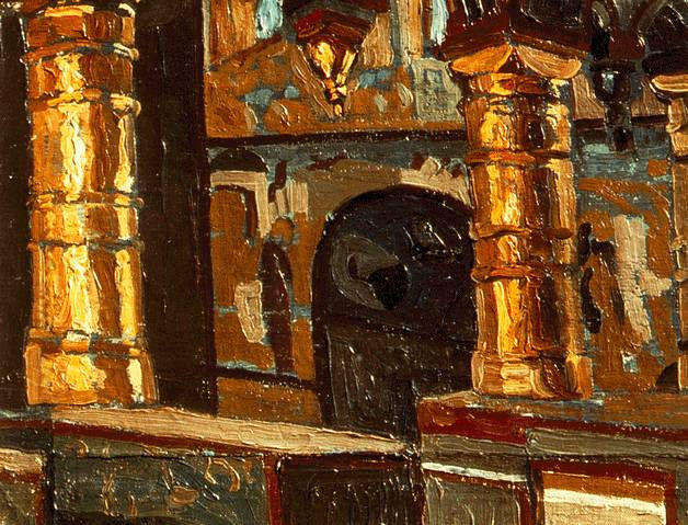 Rostov Veliky. Interior of church of Savior., 1903 by Nicholas Roerich (1874-1947, Russia) | Reproductions Nicholas Roerich | WahooArt.com