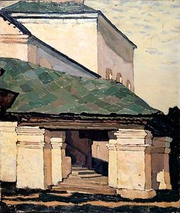Nicholas Roerich - Smolensk. The porch of the convent.