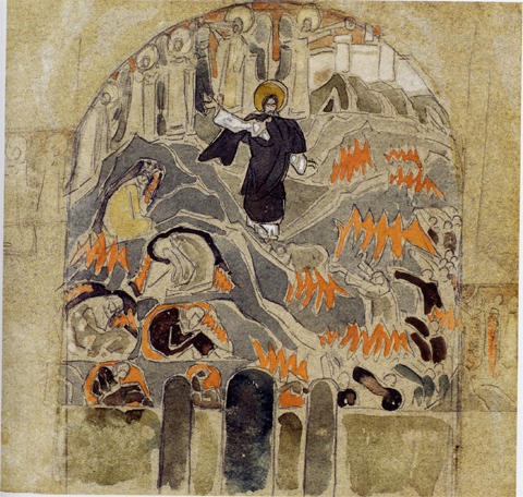 Harrowing of Hell, 1909 by Nicholas Roerich (1874-1947, Russia) | Museum Quality Copies Nicholas Roerich | WahooArt.com