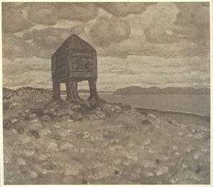 Nicholas Roerich - The Hut of Dead