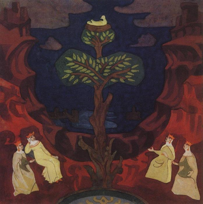 Good nest (Good tree, consolation for eyes), 1912 by Nicholas Roerich (1874-1947, Russia) | Reproductions Nicholas Roerich | WahooArt.com