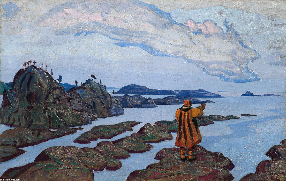 Command, Tempera by Nicholas Roerich (1874-1947, Russia)
