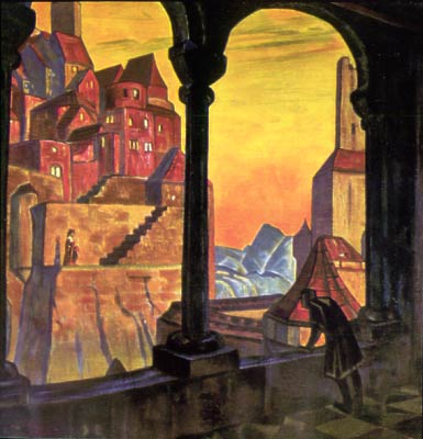 Cor Ardens, 1917 by Nicholas Roerich (1874-1947, Russia) | Art Reproductions Nicholas Roerich | WahooArt.com