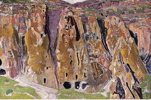 Nicholas Roerich - Cliff dwellings (Arizona)