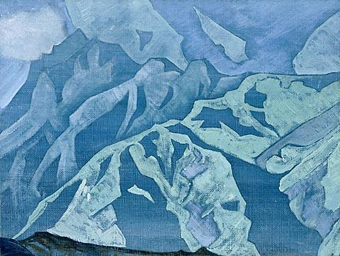 On Falut, Tempera by Nicholas Roerich (1874-1947, Russia)