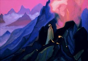 Nicholas Roerich - Mohammed on mount Hira