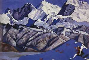 Nicholas Roerich - Red horses