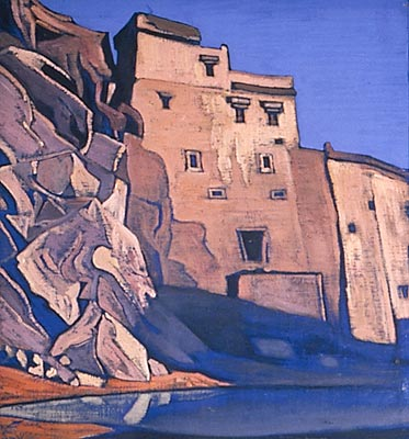 Issa pond. Le., 1926 by Nicholas Roerich (1874-1947, Russia) | Paintings Reproductions Nicholas Roerich | WahooArt.com