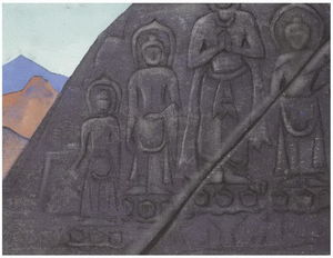 Nicholas Roerich - Rock Relief of Buddha