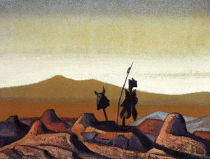 Nicholas Roerich - Tombs in the desert