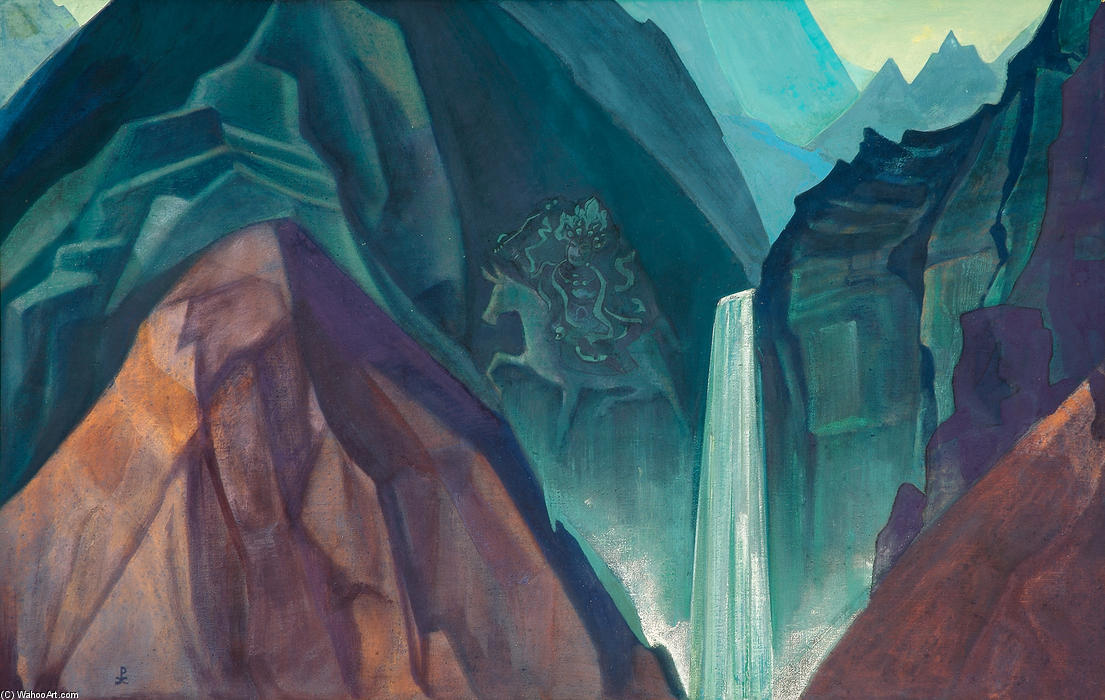 Palden Lhamo, 1931 by Nicholas Roerich (1874-1947, Russia) | Paintings Reproductions Nicholas Roerich | WahooArt.com